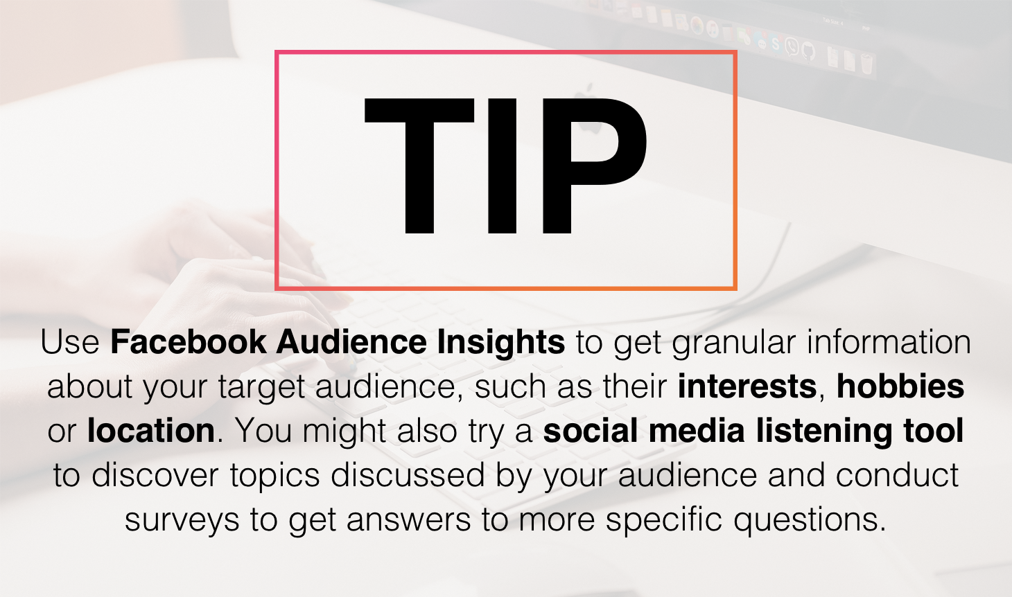 Tip about using Facebook Audience Insights