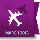 March 2013 Facebook Report: Airline Industry image