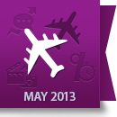 May 2013 Facebook Report: Airline Industry image