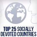 Socially Devoted:  The Top 25 Countries on Facebook image